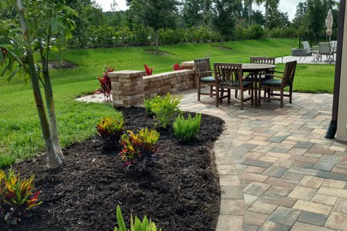 Custom paver patio in Palmetto, FL.
