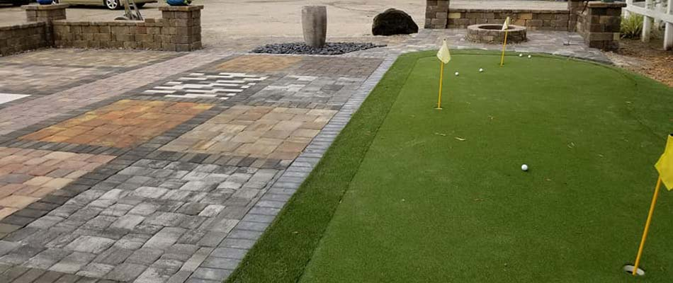Putting greens are a popular use of artificial turf for homeowners in Palmetto.