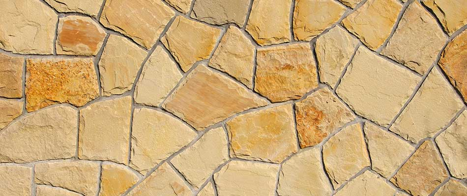 Sandstone texture on a patio in Palmetto, FL.