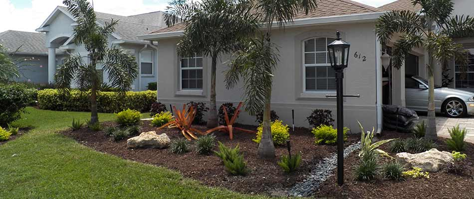 A home in Lakewood Ranch, FL with landscape trimming and maintenance.