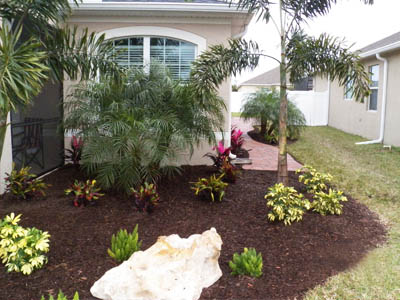 New Landscaping Design And Installation At Home In Palmetto, FL.