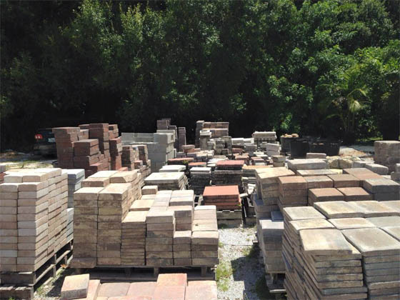 Our inventory of pavers and natural stone for patios, walkways and driveways in Palmetto, FL.