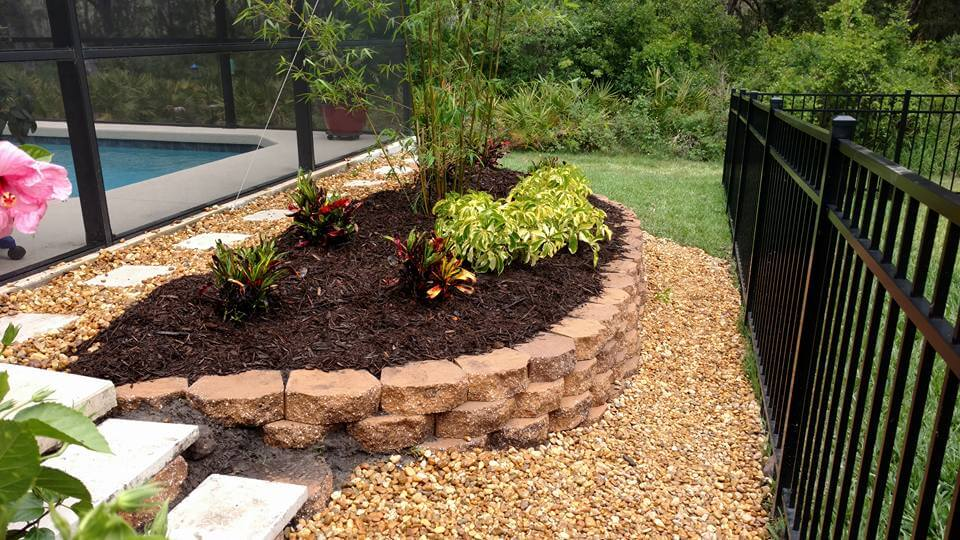 create privacy with landscaping and stop erosion around pool home