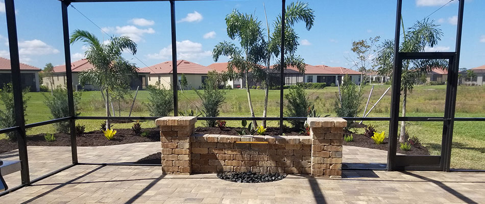 New Custom Patio, Water Feature, Lanai, & Landscaping