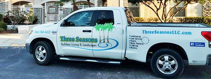 Three Seasons truck at customer's home in Palmetto, FL.