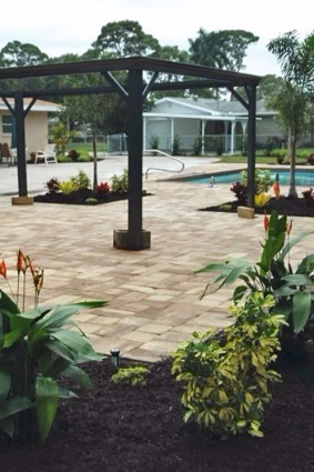Custom paver patio and pool deck in Palmetto, FL.